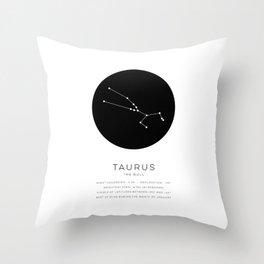 Taurus Constellation Throw Pillow