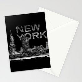 New York City Sketch  - mixed media Stationery Cards