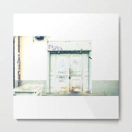 Blanco y óxido Metal Print