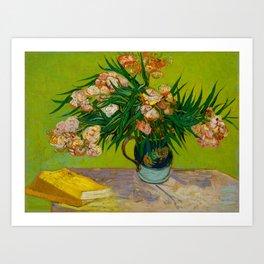 Oleanders Vincent van Gogh Oil On Canvas Floral Still Life Painting Art Print