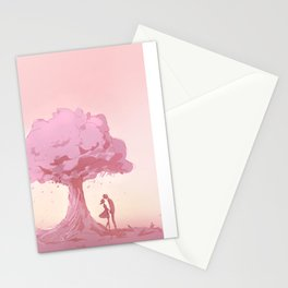 Leaves Fall the Way I do for You Stationery Cards