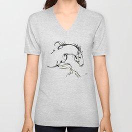 Running horse Unisex V-Neck