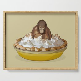 Lemon 'Merangutan' Pie - Orangutan Monkey in Lemon Meringue Pie Serving Tray