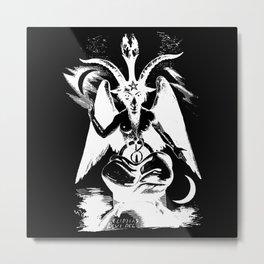 Der Baphomet (negative plane edit) Metal Print