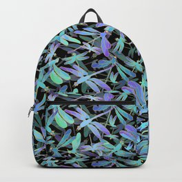 Dragonfly Holiday | Black Backpack