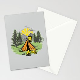 Recharging Offline Camping Dog Stationery Cards