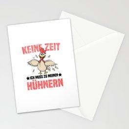 Keine Zeit Ich Muss Zu Meinen Hühnern T Shirt Hühner TShirt Gockel Shirt Spruch Geschenk Stationery Cards