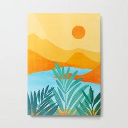 Summer Mountains / Landscape Series Metal Print