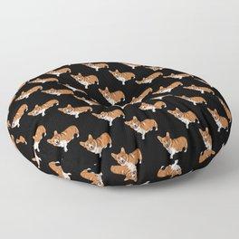 Corgi Black Pattern Floor Pillow