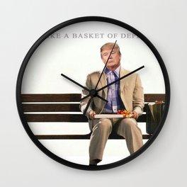 Forrest Gump Parody Of Donald Trump Wall Clock