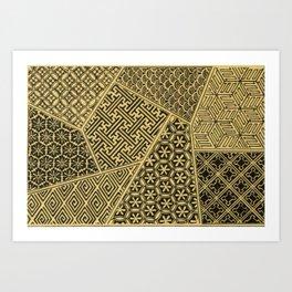 Japanese Patterns Art Print