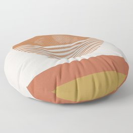 Sunshine, Modern Abstract Landscape, Sun Floor Pillow