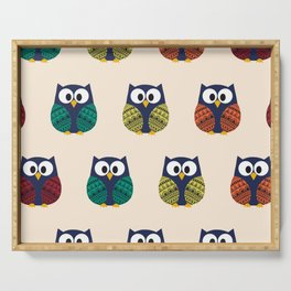 Cute Owls - Hooting and Rooting Serving Tray