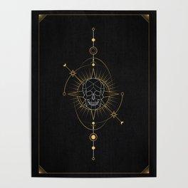 Tarot geometric #7: Skull Poster