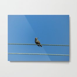 I Can't Get Out. Metal Print