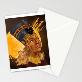 Black is Queen Stationery Cards