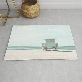 Lifeguard Tower, Beach, Ocean Art Print By Synplus Rug