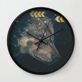 Urban wolf Wall Clock