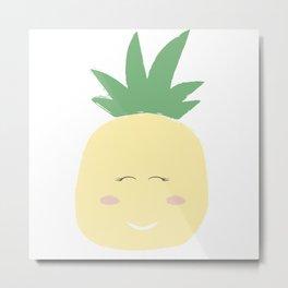 Pineapple Illustration Metal Print