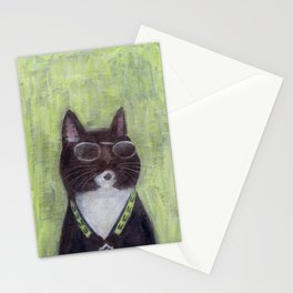 Cat in Shades Stationery Cards