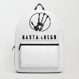 Hasta Luego. The alien hand! Backpack