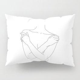 Crossed arms illustration - Joyce Pillow Sham