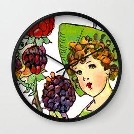 Blackberry Girl Wall Clock
