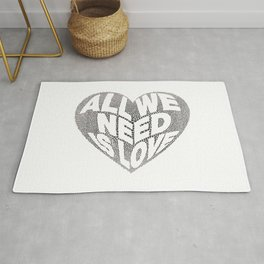 All we need is love Rug