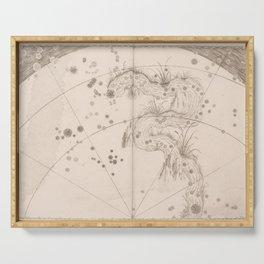 Johann Bayer - Uranometria / Measuring the Heavens (1661) - 34 Eridanus / The River Serving Tray