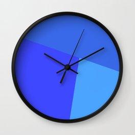 dégradé trapèze bleu roi Wall Clock
