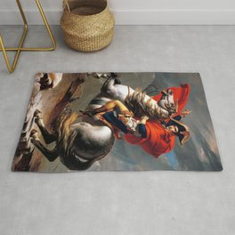 Jacques Louis David Napoleon Crossing the Alps Rug