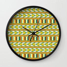 Afro Kente Cloth 4 Wall Clock