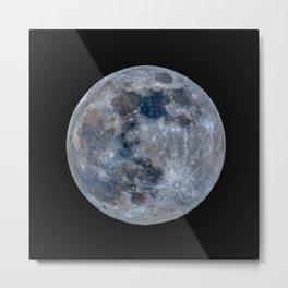 The Full Moon in natural colors Metal Print