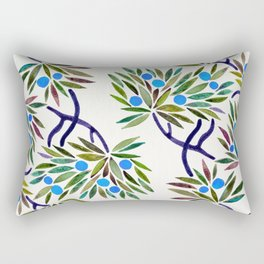 Bonsai Fruit Tree – Blue Palette Rectangular Pillow
