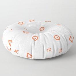 Happy Particles Floor Pillow
