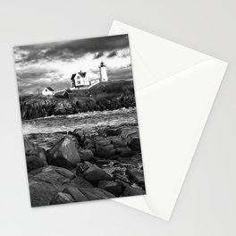 Nubble Lighthouse, Maine 4bw Stationery Cards