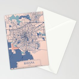 Havana - Cuba Breezy City Map Stationery Cards