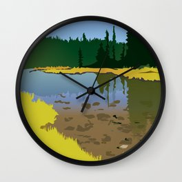 Junction Lake Wall Clock