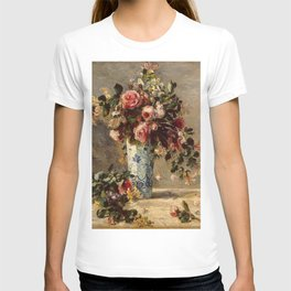 Pierre-Auguste Renoir's Roses and Jasmine in a Delft Vase T-shirt