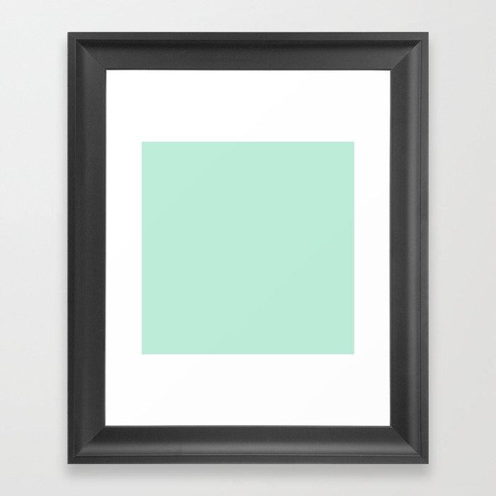 Mint Green Pastel Solid Color Block Spring Summer Gerahmter Kunstdruck