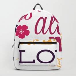 Love Is All We Need Valentines Day Backpack