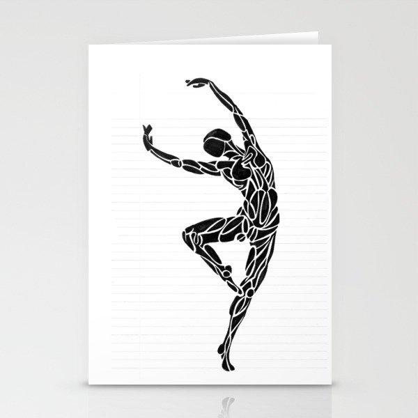 Ballerina Dance Pose Stationery Cards