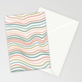 Pastel wave pattern home decor Stationery Cards