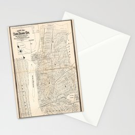 Map of Long Island City, Queens County, New York (1874) Stationery Cards