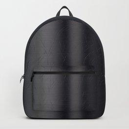 Scratched Black Metal Backpack