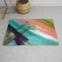 Lucky [5] - a bright abstract mixed media piece Rug