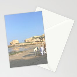 Horse & Camels on Oman Beach Photography Art Print Stationery Cards