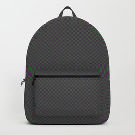 Dark green and purple squares Backpack