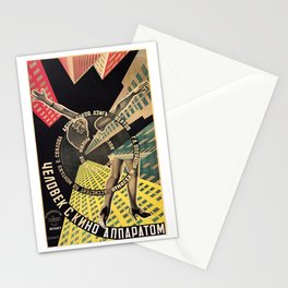 Man with a Movie Camera, vintage movie poster, 1929 Stationery Cards