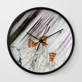 Kay Nielsen - Three Princesses Amazed By Snowstorm Wall Clock